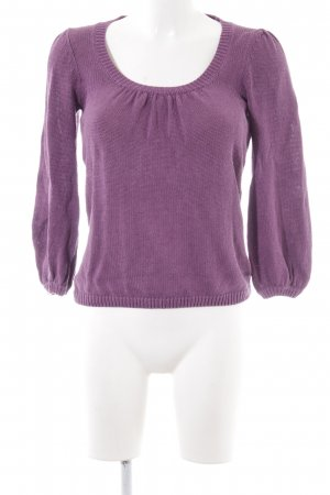 Boden Strickpullover lila Casual-Look