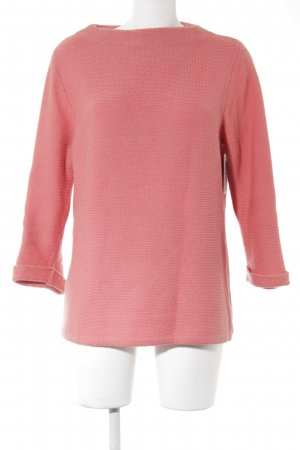 Boden Strickpullover lachs Webmuster Casual-Look