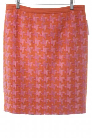 Boden Gebreide rok oranje-magenta grafisch patroon casual uitstraling