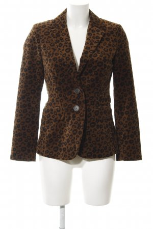 Boden Sweat Blazer brown-dark brown animal pattern animal print