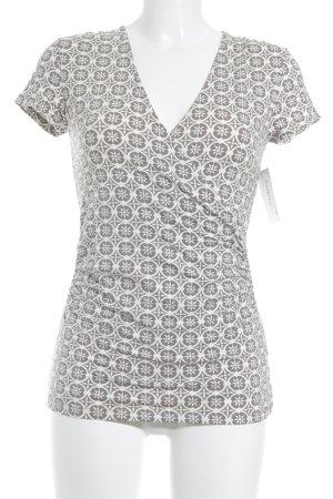Boden T-Shirt graubraun-wollweiß Mustermix klassischer Stil