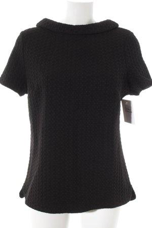 Boden T-Shirt schwarz grafisches Muster Casual-Look