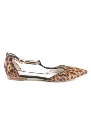 Boden Sandalias de tacón con barra en T estampado de leopardo look casual