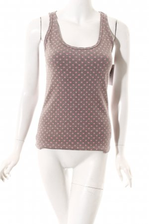 Boden Strappy Top grey-pink spot pattern casual look