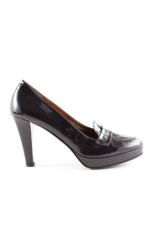Boden Loafers zwart-braambesrood casual uitstraling