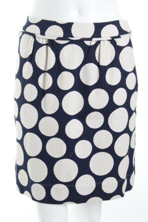 Boden Tulpenrock dunkelblau-wollweiß Punktemuster Street-Fashion-Look