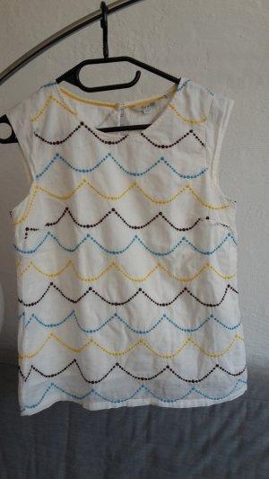 Boden Tunika weiß XS 34 UK8 Shirt locker Bluse Top
