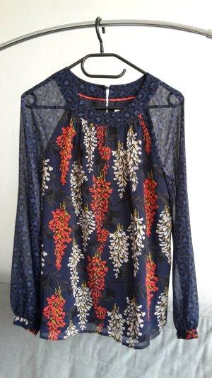 Boden Tunika XS 34 UK 8 Shirt locker Bluse bunt Chiffon