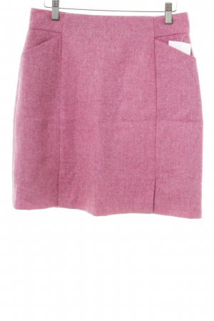 Boden Tweedrock rosa-pink Hahnentrittmuster Casual-Look