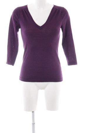 Boden Jersey con cuello de pico lila look casual