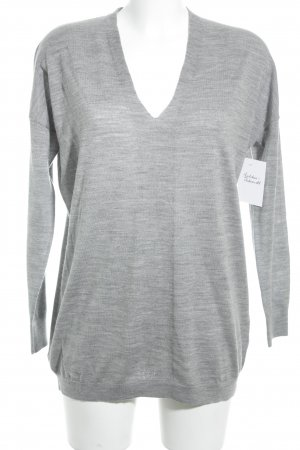 Boden V-Ausschnitt-Pullover grau meliert Casual-Look
