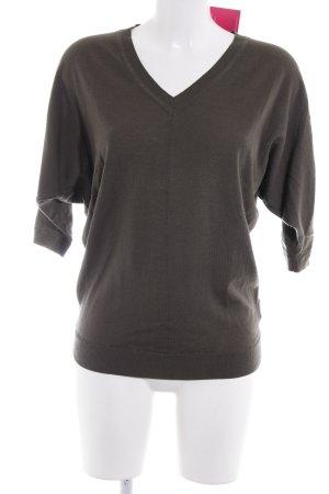 Boden V-Ausschnitt-Pullover khaki Casual-Look