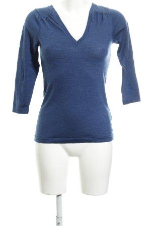 Boden V-Ausschnitt-Pullover stahlblau Casual-Look