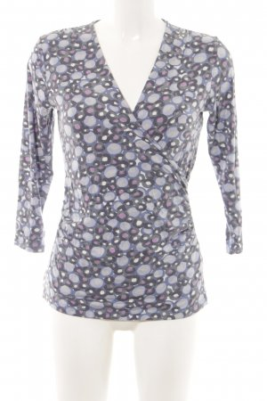Boden V-hals shirt gestippeld patroon casual uitstraling