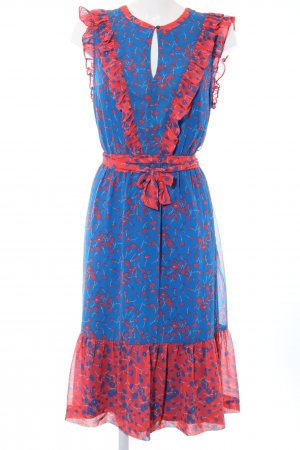 Boden Flounce Dress blue-red allover print casual look