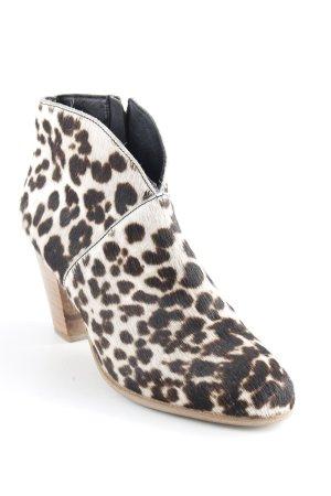 Boden Botines estilo vaquero beige claro-marrón-negro estampado de leopardo