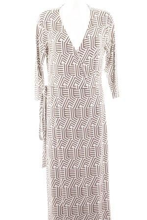 Boden Wickelkleid braun-weiß grafisches Muster Street-Fashion-Look