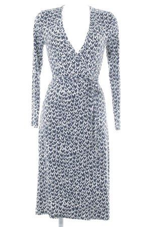 Boden Vestido cruzado azul oscuro-blanco estampado con puntos de colores