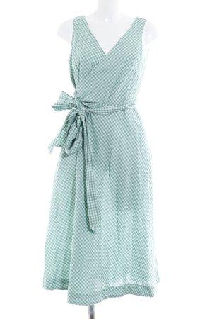 Boden Robe portefeuille gris vert motif Vichy style rétro