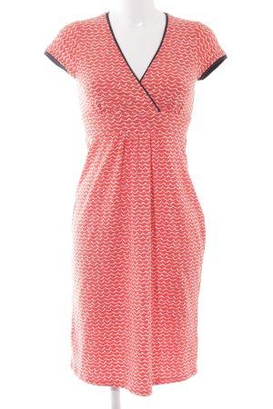 Boden Robe portefeuille blanc-rouge motif abstrait style décontracté