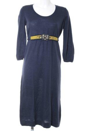 Boden Wollen jurk donkerblauw-olijfgroen casual uitstraling
