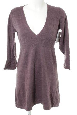 Boden Wollen jurk grijs-lila casual uitstraling