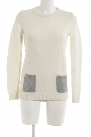 Boden Wollpullover creme-grau Casual-Look