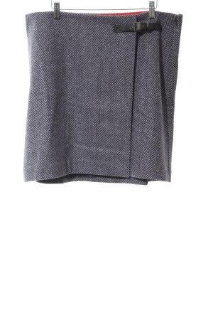 Boden Gonna di lana bianco-nero motivo a righe stile casual
