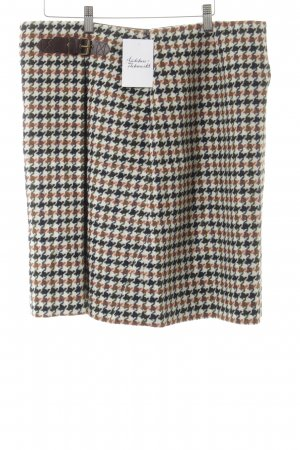 Boden Wool Skirt houndstooth pattern casual look