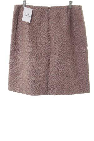 Boden Wollen rok lichtbruin-roze visgraatmotief elegant