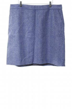 Boden Wool Skirt steel blue-natural white herringbone pattern casual look
