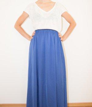 Zara Jupe longue bleu fluo