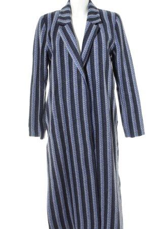 Manteau long motif abstrait style décontracté