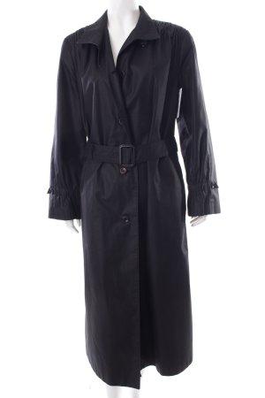 bodenlanger Mantel schwarz Schimmer-Optik