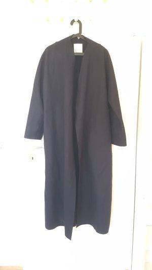 bodenlanger Mantel von Mango Premium, Gr. M, 100% Wolle, dunkelblau