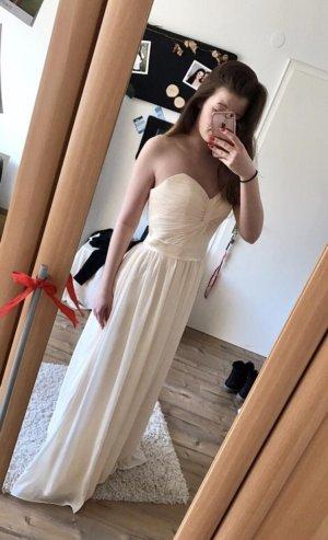 Bodenlanges champagnerfarbenes Kleid