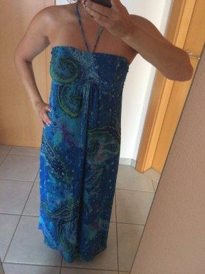 Bodenlanges Kleid in türkis-blau von Orsay