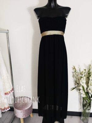 Off-The-Shoulder Dress black-gold-colored