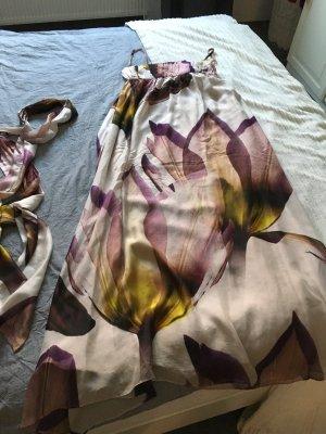 Bodenlanges Kleid von ZARA aus 100% Seide Gr M/40
