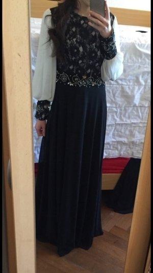 Bodenlanges, langärmliges Abendkleid/Hochzeitskleid/Maxikleid