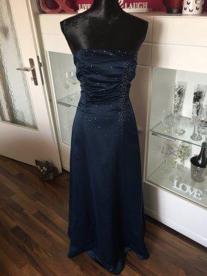 Bodenlanges nachtblaues Kleid von Mariposa