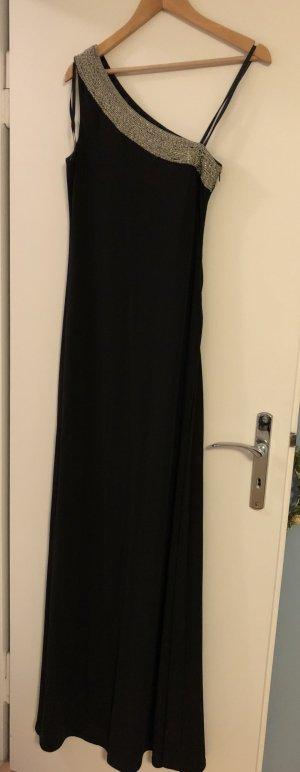 Bodenlanges, schwarzes Abendkleid von Steffen Schraut