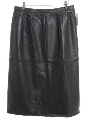 Bodenschatz Leather Skirt dark brown extravagant style