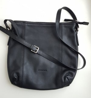 Bodenschatz - neuwertige schwarze Leder Umhängetasche