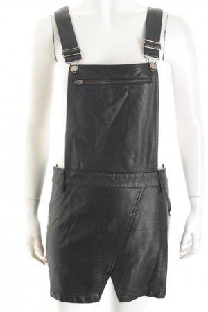 Bodkin Pinafore Overall Skirt black biker look