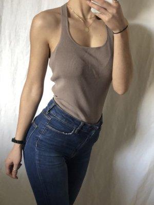 Zara Blusa tipo body multicolor