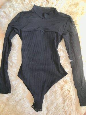 Shirtbody zwart Gemengd weefsel