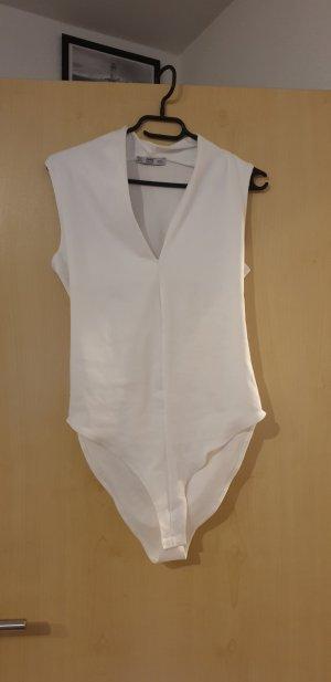 Zara Blusa tipo body blanco