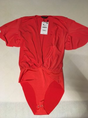 Bershka Bodysuit Blouse red