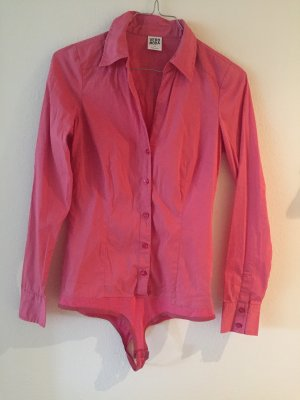 Body-Bluse in pink Ton